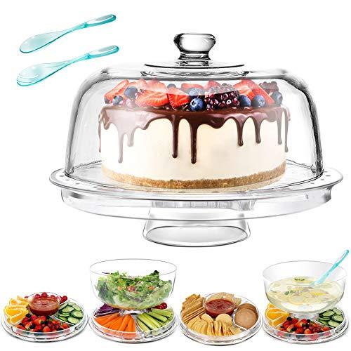 Masthome Soporte para Tartas 6 en 1 Multifuncional,30,4 cm,para Cocina,Fiesta,Banquete,con 2 Piezas Cuchara de Ensalada
