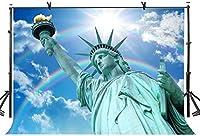 HD 10x7ft有名な彫刻の背景アメリカの有名な自由の女神彫刻写真撮影の背景写真スタジオの背景小道具LYNAN474