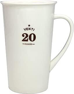 Momugs Classic Style Simple Pure Large Milk Mug, Tall White Ceramic Coffee Cup, 20 oz