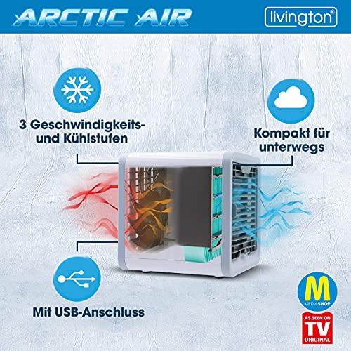MediaShop Livington Arctic Air – Luftkühler mit Verdunstungskühlung – Mobiles Klimagerät mit 3 Stufen und 7 Stimmungslichtern – Mini Klimagerät mit Tankvolumen für 8h Kühlung - 4