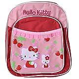 TE-Trend Hello Kitty Rucksack Kinder Rucksack Vorfach Fahrradtasche rot
