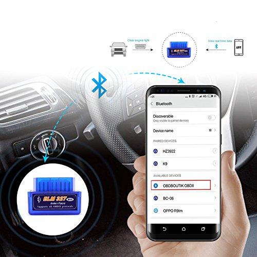 obdator OBD OBD2 OBDII - Lector de códigos de escáner para Coche, Bluetooth