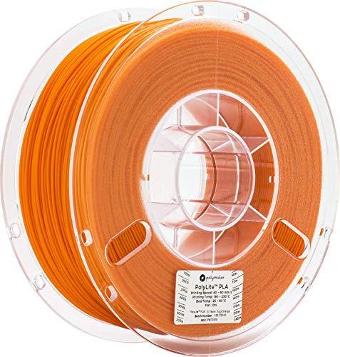 3Dプリンタ―用フィラメント PolyLite PLA 1.75mm径 1kg巻 オレンジ