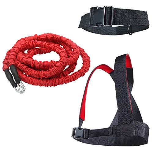 YNXing Carga Juego de Entrenamiento de Fuerza explosiva Entrenamiento de Fuerza Resistencia Cuerda Mejorar Fuerza Velocidad y Muscular … (3m Kit)