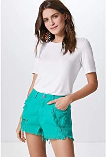 SHORTS MARINE COLOR-GREEN EMERALD