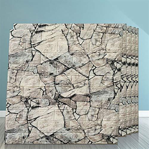 Junhua 3D-Bilder für Wohnzimmer Vintage Ziegelstein-Muster Selbstklebende Tapete 3D Adhesive Wallpaper Faux Textured Brick Look (5 Stück) Wand-Küche-Kabinett-Möbel Schublade Schreibtisch (Color : G)
