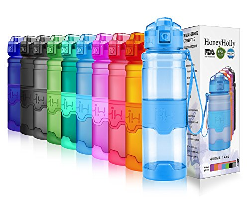 HoneyHolly Sport Trinkflasche 380/500ml/700/1L-BPA frei auslaufsicher/Für Gym,Laufen,Yoga,Camping,Outdoor,Männer, Frauen,Kinder-Tritan Sporttrinkflaschen kohlensäure geeignet Kunststoff mit Filter