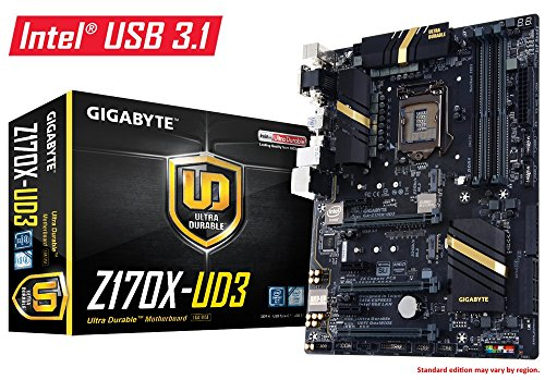 GIGABYTE GA-Z170X-UD3 LGA1151/ Intel Z170/ DDR4/ 3-Way CrossFireX & 2-Way SLI/ SATA3&USB3.0/ M.2&SATA Express/ A&GbE/ ATX Motherboard