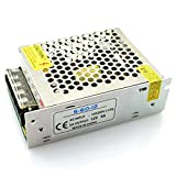 DZS Elec AC-DC 12V 5A 60W Universal Regulated Switching Power Supply Driver Transformer Adapter LED Household Appliances Security System Driver Step-Down Module AC 110V/220V to DC 12V