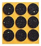 haggiy peha Anti-Rutsch-Pad (Rutschhemmer für Möbel, Sofas, Tische) selbstklebend, rund 28 mm (9 STK.)