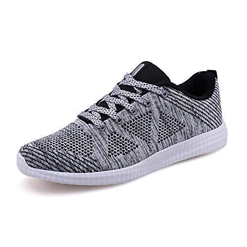 Homme Femme Chaussures de Running pour Course Sports Fitness Gym athlétique Sneakers,Gris,38 EU