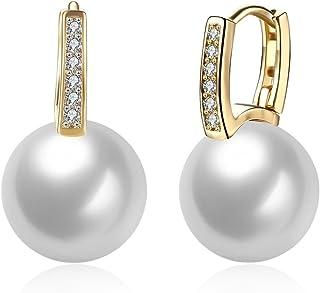 a59c2db8a8251 Styleziel Boucles d'oreille style créole en or pour femme avec petits  cristaux et filigrane