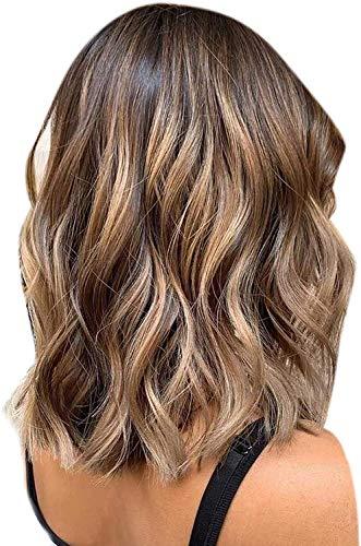 Hetto Brown Clip in Wig Human Hair 4 Brun Foncé U Shape Lace Wig 20Pouce/50cm Brazilian Remy Wig 120g Half Wig for Women 130 Density Brown Perruque Fe