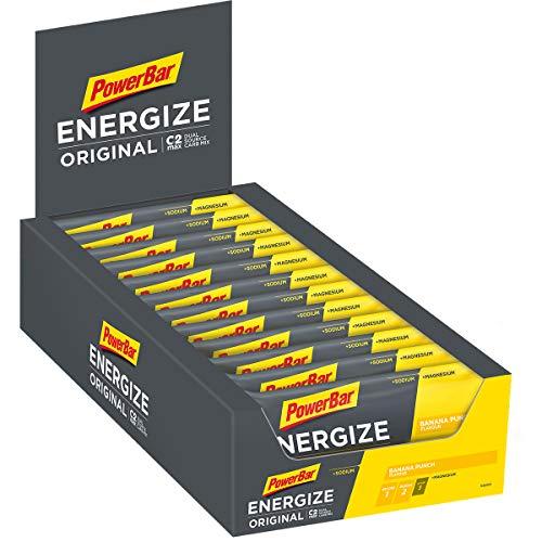 PowerBar Energize Original Banana Punch 25x55g - High Carb Energieriegel + C2MAX Magnesium und Natrium