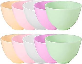 Lurrose 10Pcs Siliconen Mengkommen Prep En Dienen Kommen Haarverf Mixing Bowls Voor Thuisgebruik Salon Make Spa Modder Kom