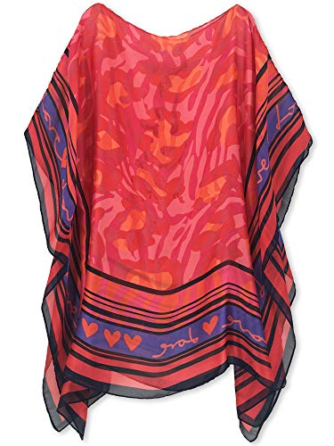 Moss Rose Women's Swimsuit Cover up Beach Kaftan for Bathing Suit with Floral Pattern