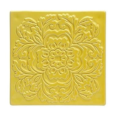 C.R. Gibson QT-14117 Vanderbilt Ceramic Trivet, Yellow