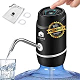 Water Dispenser 5 Gallon Pump by SoGood - Carrying Pouch for Camping - 2 Hoses - Water Jug Dispenser - BPA free - Water Gallon Dispenser - Automatic - USB Charging - Ideal for Outdoor or Kitchen