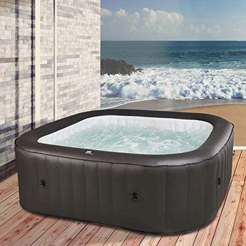 BRAST Whirlpool aufblasbar MSpa URBAN VITO für 6 Personen 185x185x68cm In-Outdoor Pool 132 Massagedrüsen Aufblasfunktion per Tastendruck