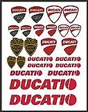 senza marca Adesivi Stickers Ducati Corse Logo Pannello Intero 24pz motorino Moto Casco