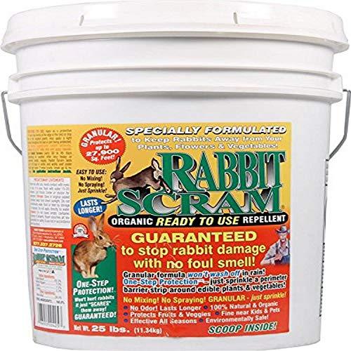 Enviro Pro 11025 Rabbit Scram Repellent Granular White Pail, 25 Pounds - 100052379