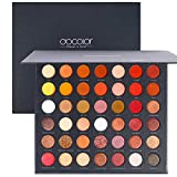 Docolor Pro Eyeshadow Palette, Matte Shimmer 42 Colors Ultra Pigmented Metallic Make Up Eye Shadow Powder, Natural Warm Glitter Color Shades, Long Lasting Waterproof Professional Makeup Palette