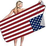 American Flag Beach Towel Oversized Microfiber Beach Towel Lightweight Thin Striped Pool SPA Towels Quick Dry