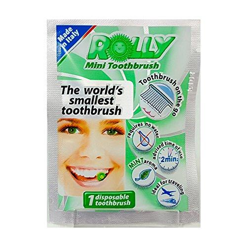 Rolly – RB1098 – Brosses à dents de poche jetables – Goût menthe – 25 sachets unidoses
