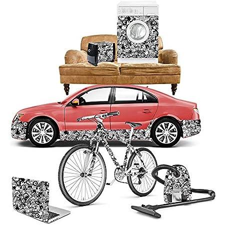 Stickerbomb Autofolie Folie Selbstklebend Für Car Wrapping 200x50cm Auto Innen Und Aussen Schwarz Weiss Fahrrad Boot Haushalt Auto