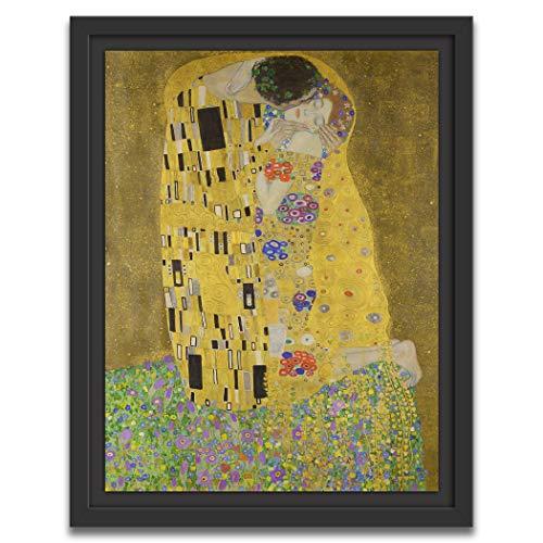 Printed Paintings Marco Americano (40x55cm): Gustav Klimt - El Beso (1907-1908)