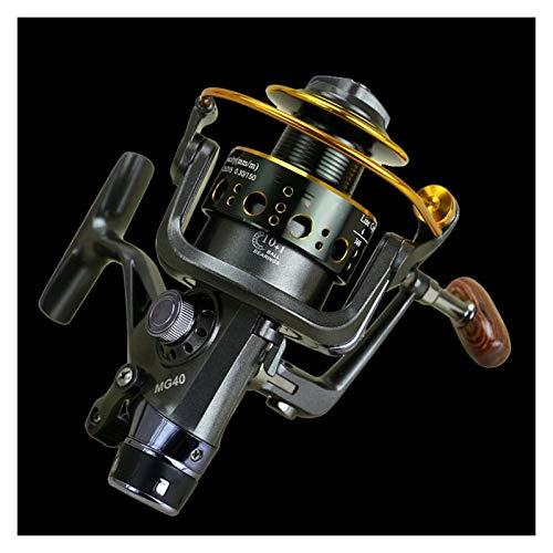Carretes giratorios Doble freno diseño de pesca carrete de pesca súper fuerte carpa alimentación de pesca spinning carrete spinning rueda tipo rueda de pesca Carrete de pesca suave ultraligero