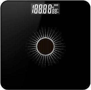 Bascula Escala Del Cuerpo Piso Escala De Peso Solar Inteligente Electrónica Led Peso Digital Baño