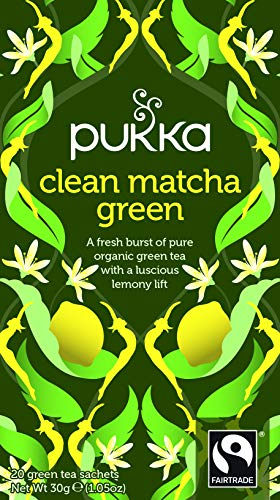 Pukka Clean Matcha Green, Organic Herbal Green Tea (4 Pack, 80 Tea bags)