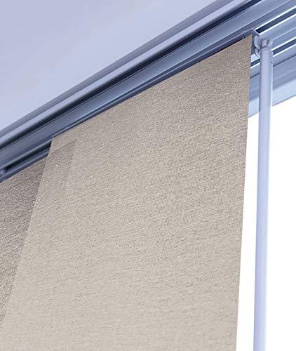 MADECO - Kit de riel y panel japonés, 170 x 250 cm, color gris