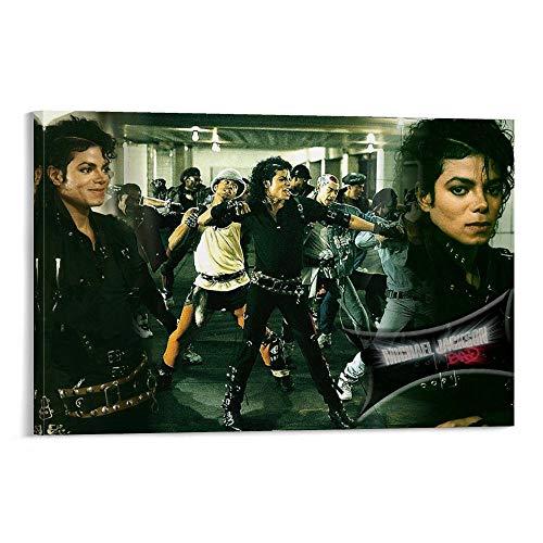 LIANGBO Póster de Bad Michael Jackson Dancers, pintura decorativa, lienzo para pared, sala de estar, póster, dormitorio, 40 x 60 cm