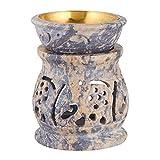 Handmade Elephant Essential Oil Diffuser Burner   Decorative Tea Light Holder   3 Inch Soapstone Wax Tart Candle Warmer Aromatherapy Diffuser for Meditation Porch, Garden, Spa, Yoga, Living Room Decor
