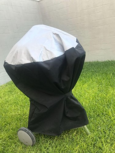 Comp Bind Technology Grill Cover for Weber Ranch Kettle Charcoal Grill 37''. Custom Fitting Outdoor Marine Black Waterproof Cover, Dimensions 37.7''W x 44.7''D x 42.5''H