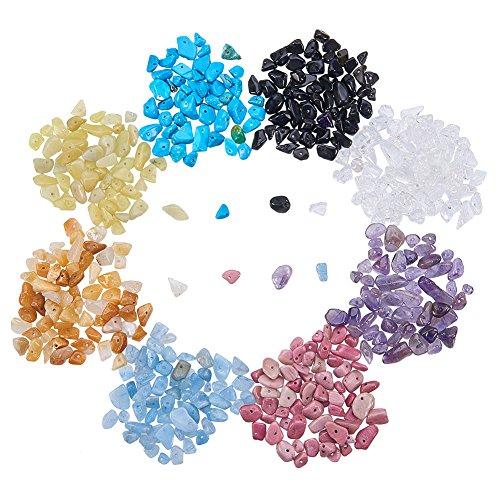 PandaHall Elite 1 Scatola Perline per Gioielli Fai da Te, Colore Misto, 5-8x5-8mm, Foro: 1 mm