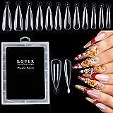 Kalolary 120PCS moldes de uñas de estilete doble sistema Acrílico Stiletto Nail Mold Construya rápidamente uñas postizas de gel UV Herramientas de manicura de extensión de uñas