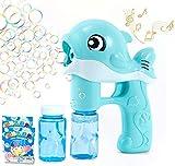 U/N Maquina Burbujas Niños,Máquina de Burbujas de Jabon Automática,Pompas Jabon,Máquina de Burbujas,Pistola de Pompas de Jabón Niños para Fiesta de Cumpleaños,Halloween,Bodas,Niños y Adultos-Azul