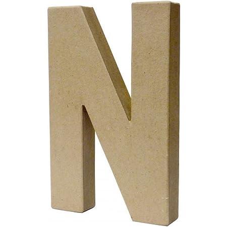 d/écopatch Mache Large Letter N,20.7cm x 13.3cm x 2.8cm White