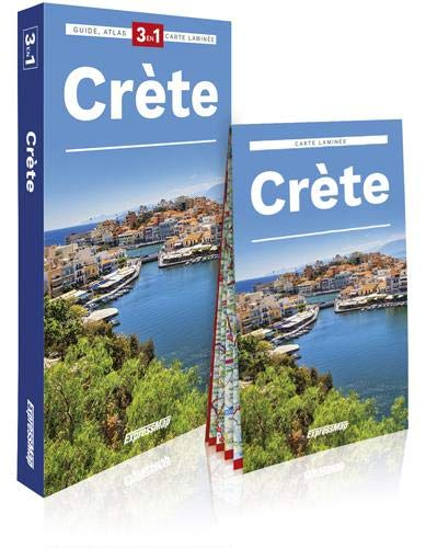 Crète : Guide + Atlas + Carte laminée 1/170 000 (Explore! Guide 3 en 1)