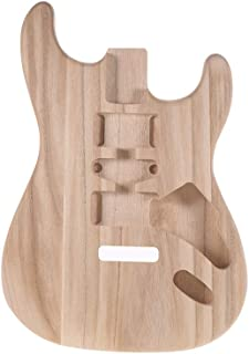 Festnight Unfinished Guitar Body, Wood Electric Guitar Body Barrel Replacement Part