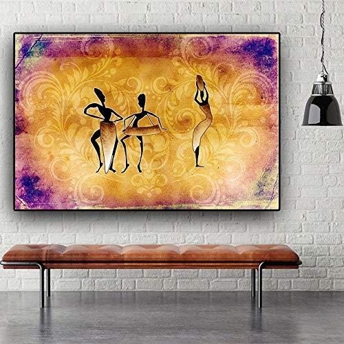Stoere kleurrijke graffiti abstracte kunst foto aan de muur 58x90cm zonder lijst