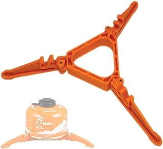 IQcharge T型 アウトドア ボンベ(OD缶)専用スタンド 転倒防止 ガスカートリッジ アタッチメント互換 スタビライザー ランタンスタンドにも【OD缶専用】オレンジ