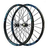 TYXTYX 26 27,5 29 Pulgadas Juego de Ruedas de Bicicleta de montaña Llanta MTB de Doble Pared Freno de Disco de 6 Clavos Base de Torre de 6 Garras Liberación rápida para Rueda de 8 9 10 11 12 veloci