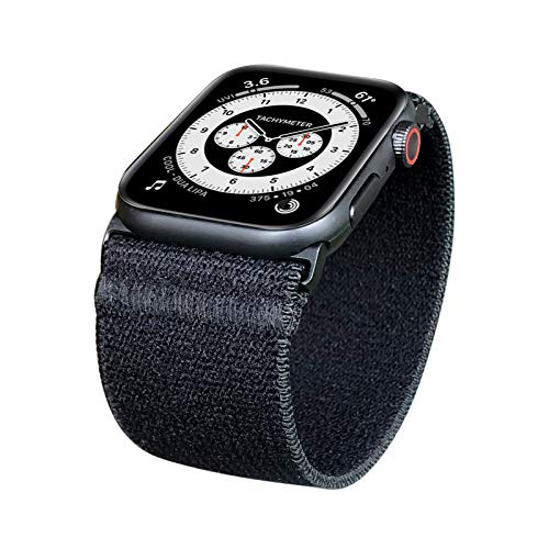 ZRDESIGN Wide Elastic Band Compatible for Apple Watch 38mm 40mm 42mm 44mm Women Men Stretchy Strap Replacement for iWatch Series SE 6 5 4 3 2 1 (BLACK, 38/40MM, XS (Wrist Size : 5.5-6.0 inch))