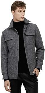 Black Label Wool-Blend Shirt Jacket