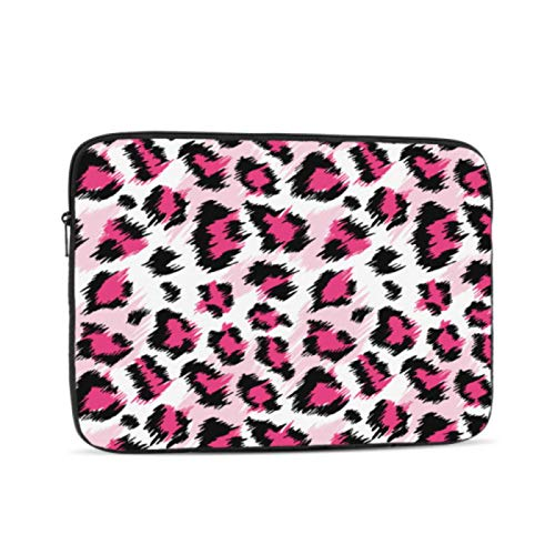 MacBook Air 13 Case Fashionable Pink Leopard Stylized Mac Pro Cover Multi-Color & Size Choices10/12/13/15/17 Inch Computer Tablet Briefcase Carrying Bag