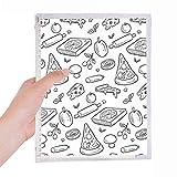Diario rellenable para pizza con diseño de queso y champiñones